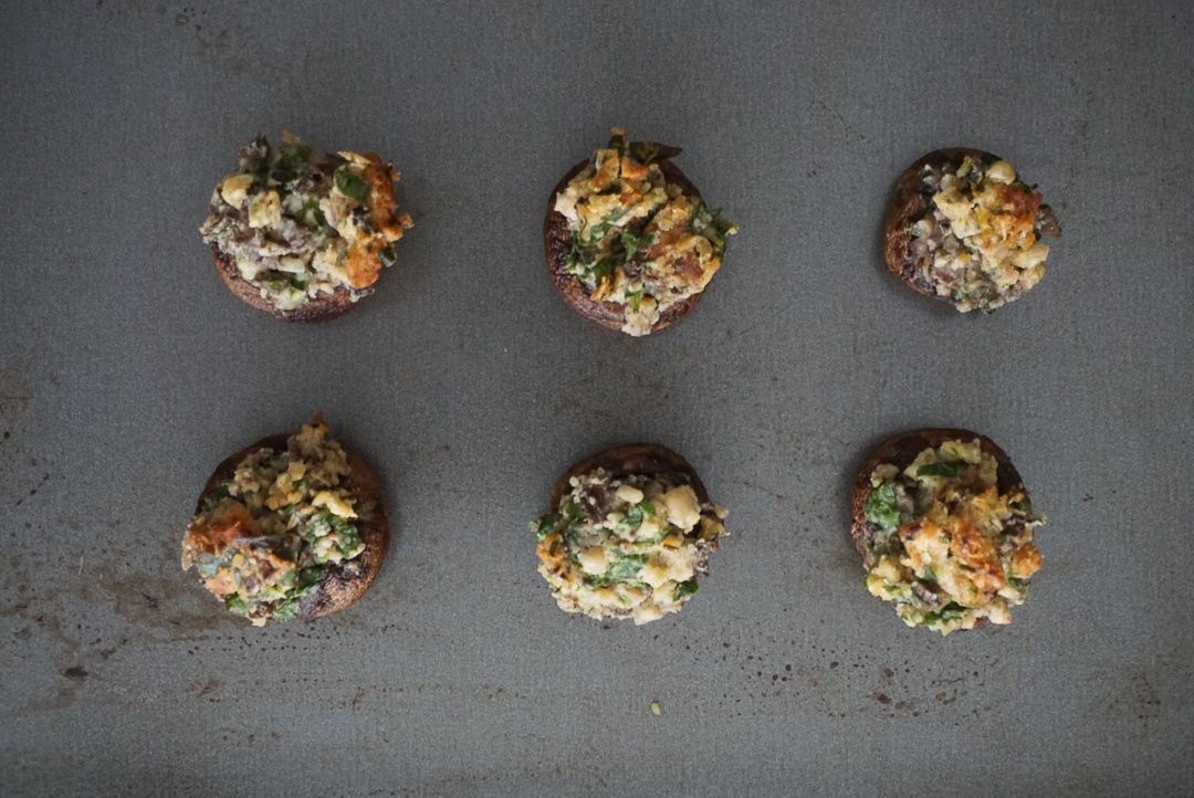 plant based stuffed mushrooms