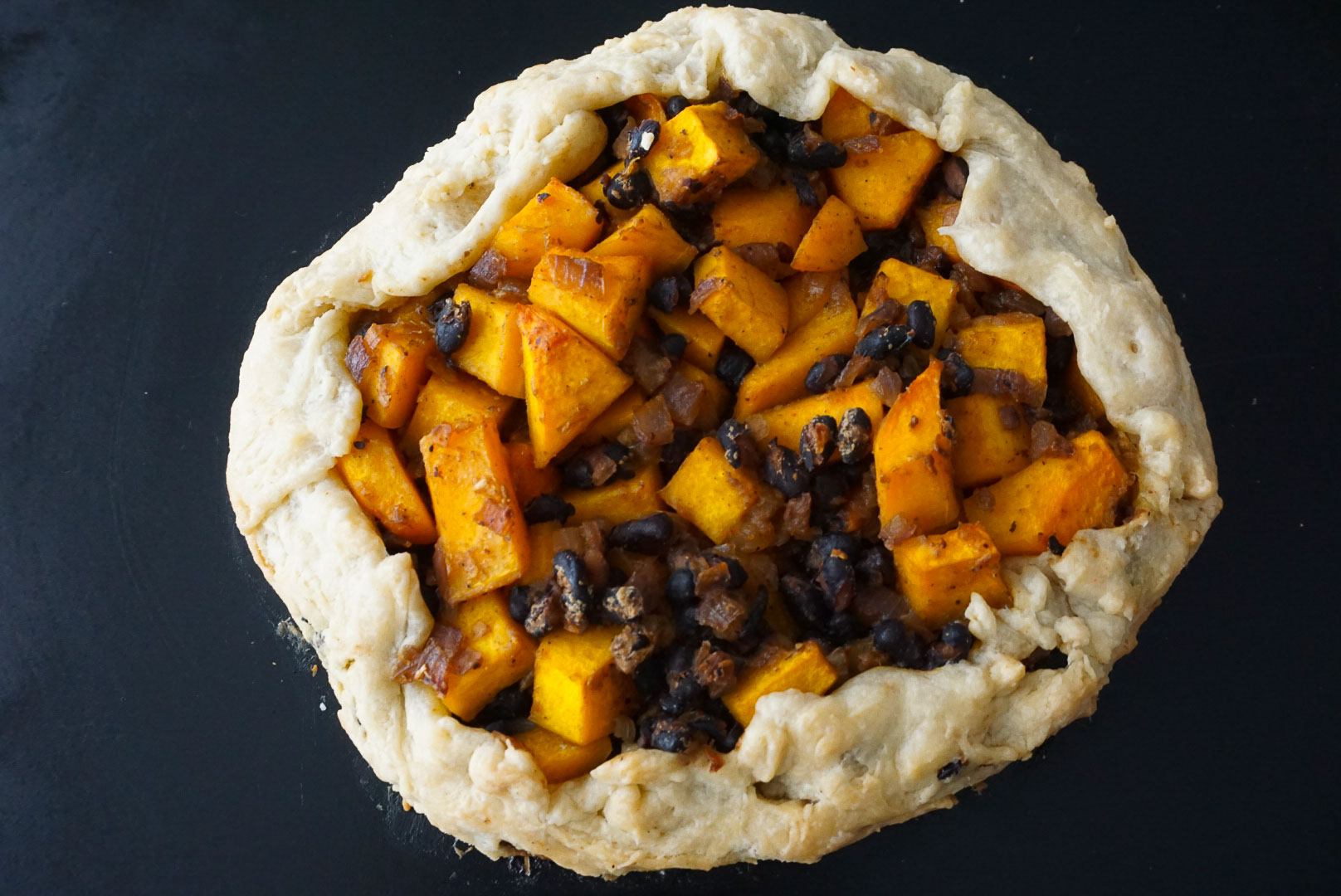 vegan squash and bean galette